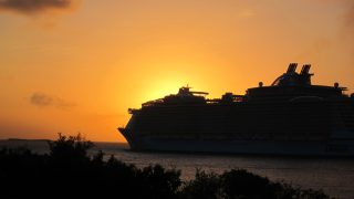 Cruise Ship Sunset, St. Thomas