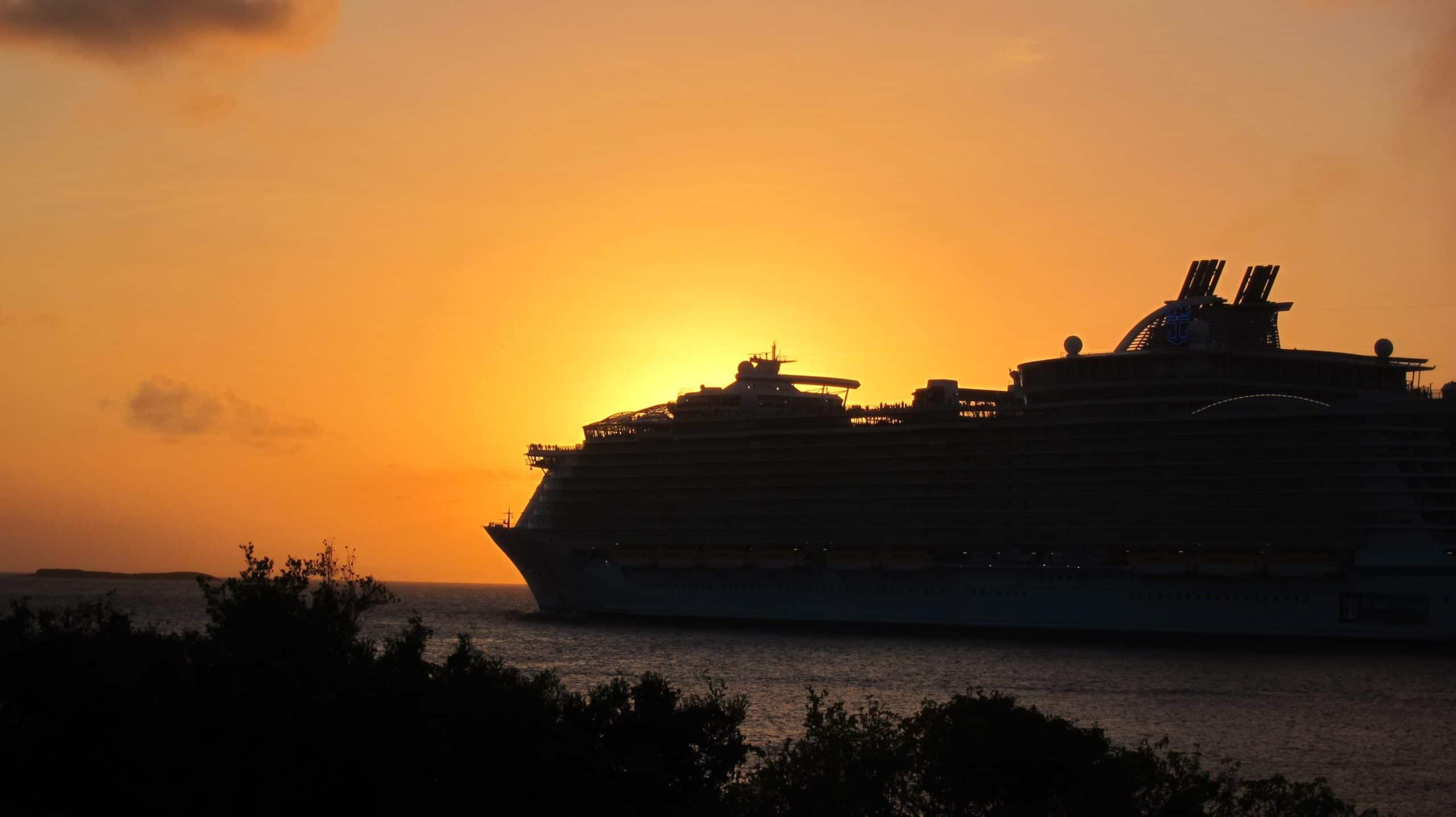 Cruise Ship Sunset, St. Thomas
