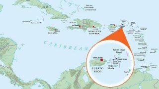Caribbean Map USVI