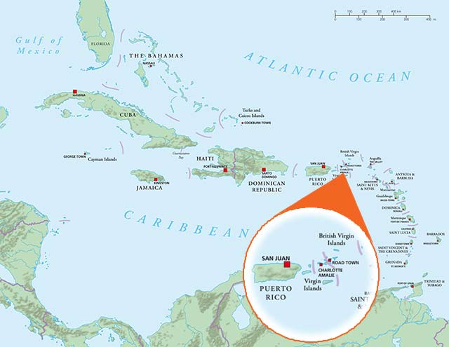 Where is the US Virgin Islands Geography Virgin Islands – Map of Saint Thomas Virgin Islands