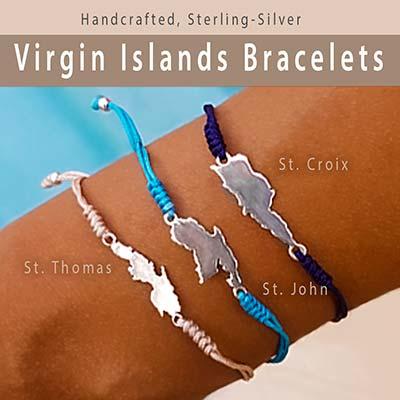 Virgin Islands Map Bracelet