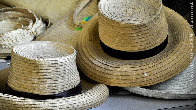 French Town Woven Hats