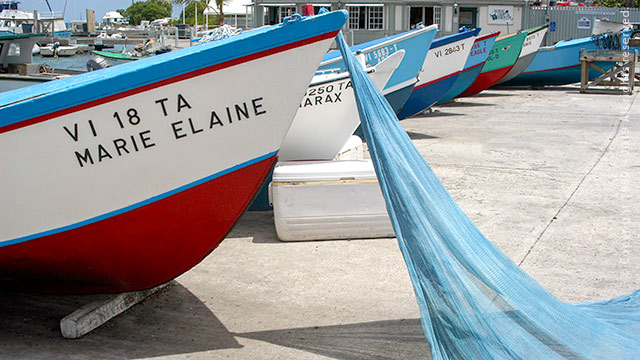 French town Boats