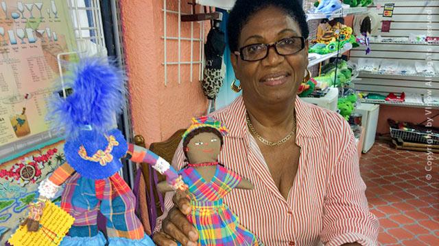 Caribbean flip dolls