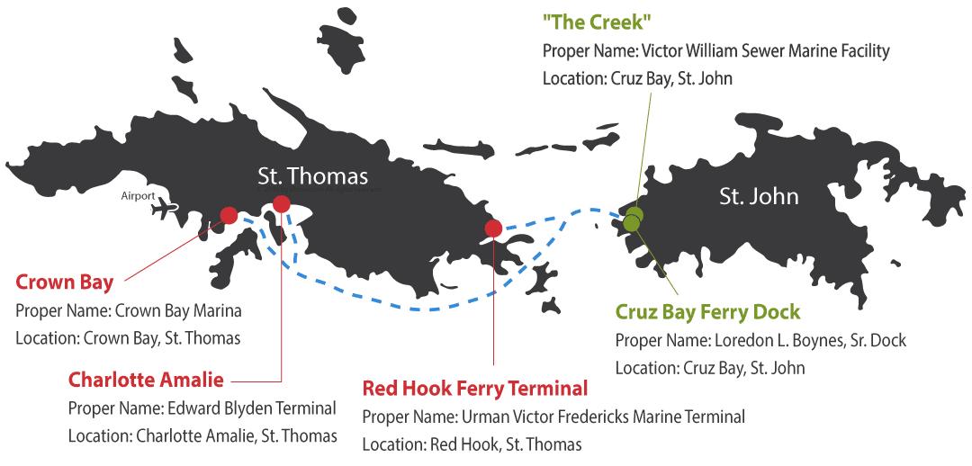 St. Thomas - St. John Ferry Routes
