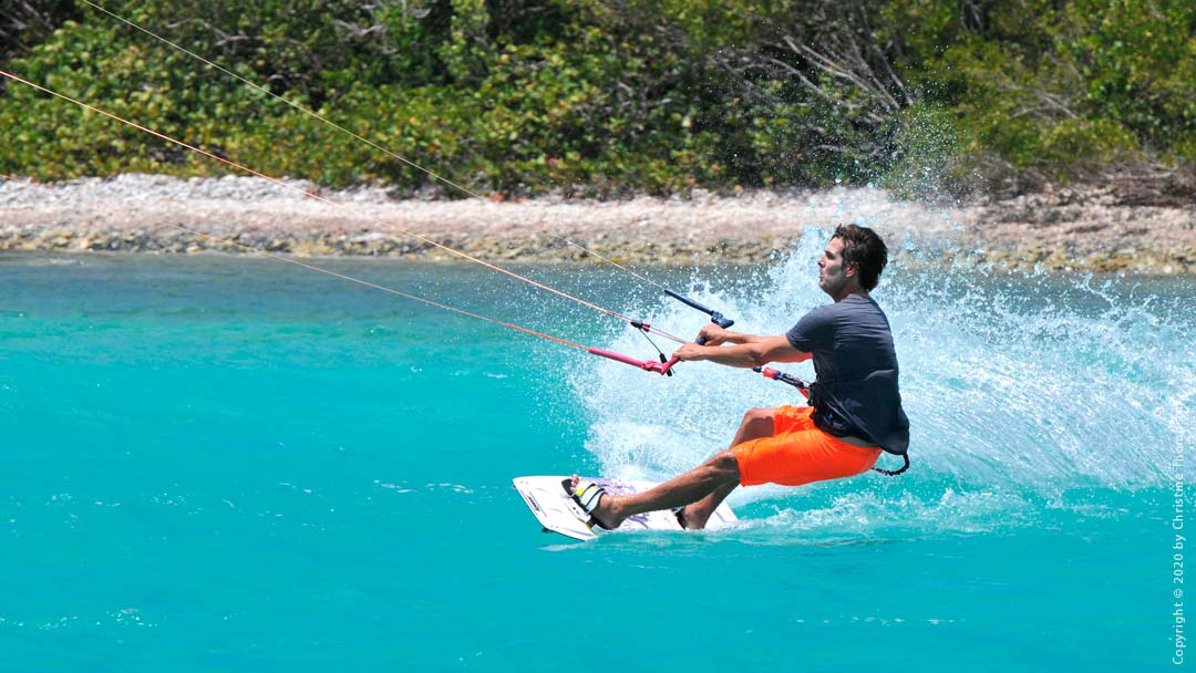 Kiteboarding on St. Thomas